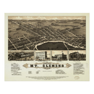 Mount Clemens Macomb County Michigan (1881) Poster