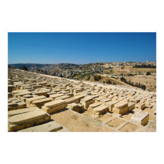 Mount of Olives Jewish Cemetery Jerusalem Israel Photo Print