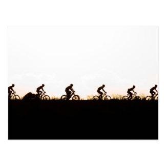 Mountain Bike Riders Make Their Way Over The Dam Postcard