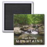 Mountain creek / river - Great Smoky Mountains Square Magnet