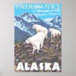 Mountain Goats Scene - Fairbanks, Alaska Poster