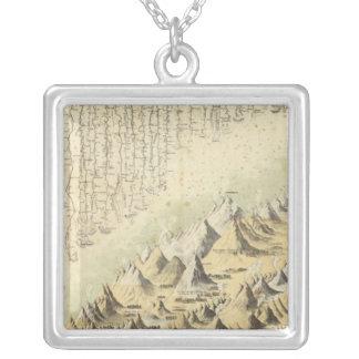 Mountains & Rivers Square Pendant Necklace