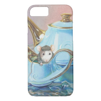 Mouse in the Tea Cup Vintage look art print iPhone 7 Case