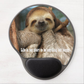 Mousepad with happy sloth gel mouse pad