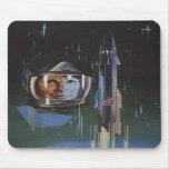Mousepad with Retro USSR Space Program Propaganda