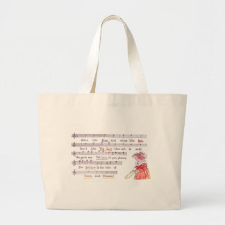 Mouse's Song in Praise of Yellow Cheese Jumbo Tote Bag