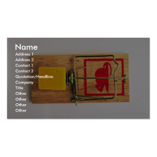 Mousetrap Pack Of Standard Business Cards