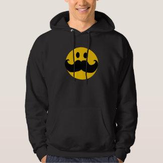 Moustache Smiley Hooded Sweatshirts