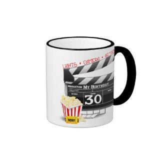 Movie Birthday Party 30th Birthday Ringer Mug