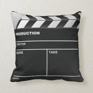 Movie maker Clap Board Throw Pillow Throw Cushions