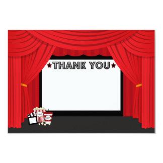 Movie screen and curtain birthday thank you card 9 cm x 13 cm invitation card