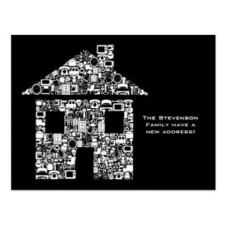 Moving House New Address Notification Note Card Postcard