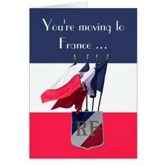 Moving to France Good Luck Card