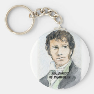Mr Darcy of Pemberley Basic Round Button Key Ring