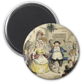 Mr. Fezziwig's Ball, A Christmas Carol 6 Cm Round Magnet
