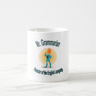 Mr. Grammarian Saves the English Language Basic White Mug
