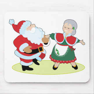 Mr Mrs Claus Mouse Pad