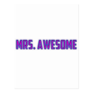 Mrs. Awesome Postcard
