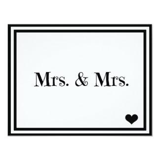 Mrs. & Mrs. 11 Cm X 14 Cm Invitation Card