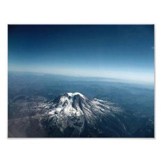 Mt. Adams Aerial Shot Photo Print