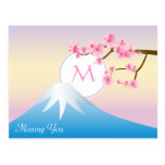 Mt Fuji Plum Blossoms Spring Japanese Umenohana Postcard