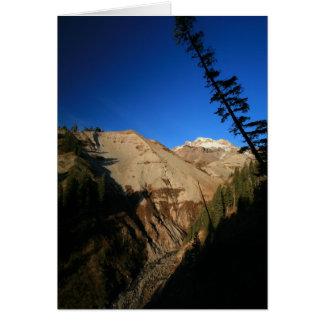 Mt. Hood Through Zig Zag Canyon Greeting Card