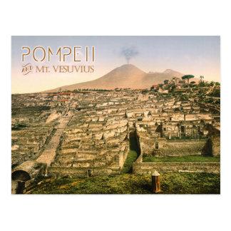 Mt. Vesuvius and the ruins of Pompeii in Italy Postcard