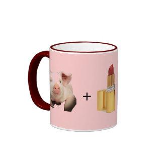 Mug / Pig + Lip Stick = Sara Palin