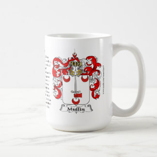 Mullin, the Origin, the Meaning and the Crest Basic White Mug