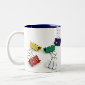 Multi Colored Binder Clips Two-Tone Mug