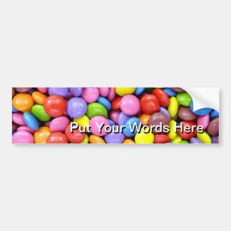 Multi-Colored Candy Bumper Sticker