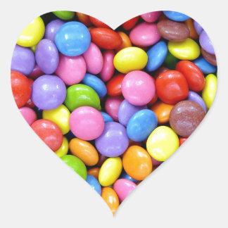 Multi-Colored Candy Heart Sticker