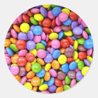 Multi-Colored Candy Round Sticker