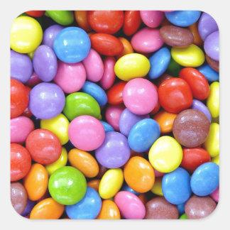 Multi-Colored Candy Square Sticker