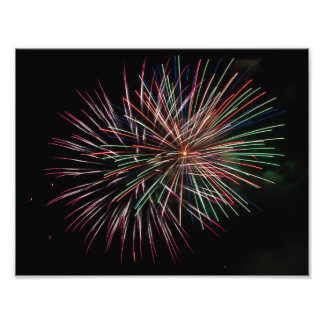 Multi colored fireworks photograph