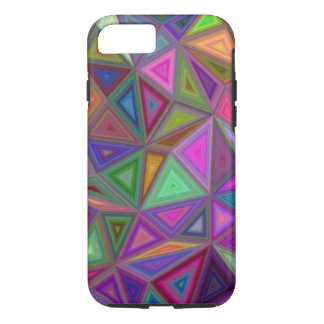 Multicolored chaotic triangles iPhone 7 case