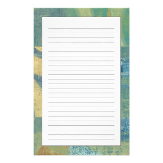 Multicolored Circles & Panels Stationery Paper