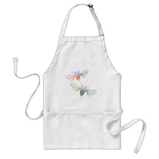 Multicolored Honeybee Doodles Standard Apron