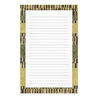 Multipatterned Panel Painting Custom Stationery