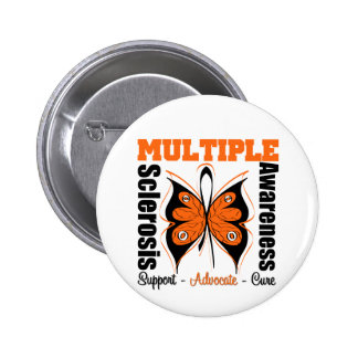 Multiple Sclerosis Awareness Butterfly 6 Cm Round Badge