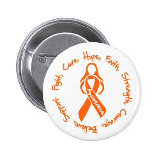 Multiple Sclerosis Fight Cure Hope Logo 6 Cm Round Badge