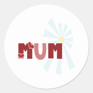 Mum Round Sticker