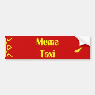 Mums Taxi Bumper Sticker