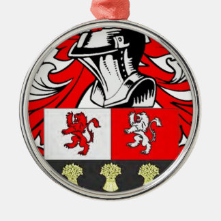 Murphy Coat of Arms Silver-Colored Round Decoration