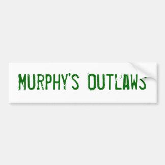 Murphys' Outlaws bumber sticker Bumper Sticker