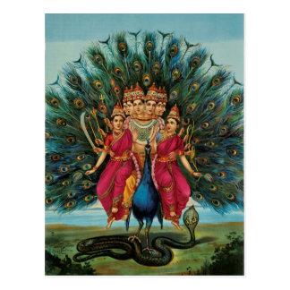 Murugan Kartikeyan Skanda Subrahmanyan Hindu Deity Postcard