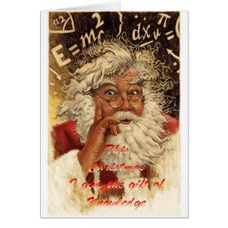 Mushroom Christmas Greeting Card