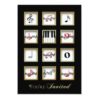 Music Invitation -  Notes/Keyboard