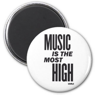 music is the most high 6 cm round magnet