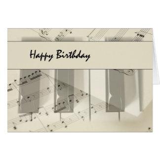 Music Keyboard Birthday Greeting Card